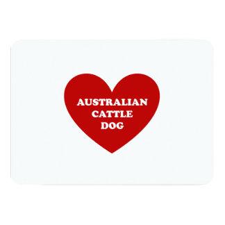 """Perro australiano del ganado invitación 5"""" x 7"""""""