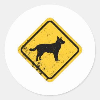 Perro australiano del ganado pegatina redonda
