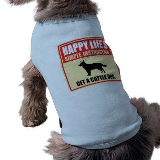 Perro australiano del ganado playera sin mangas para perro