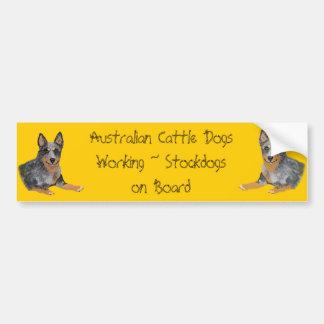 Perro australiano del ganado que trabaja Stockdogs Pegatina Para Auto
