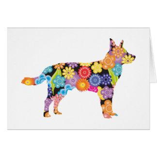 Perro australiano del ganado tarjeta de felicitación