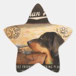 Perro austríaco de Café Pegatina En Forma De Estrella