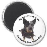 Perro azul australiano del ganado del mejor amigo imán de frigorifico