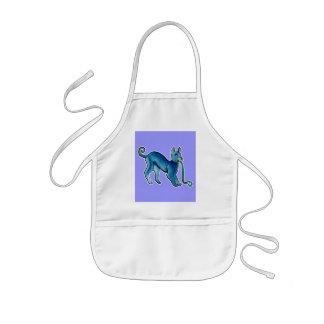 Perro azul céltico delantal