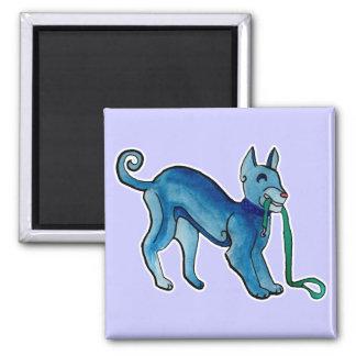 Perro azul céltico imán de frigorifico