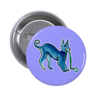 Perro azul céltico pins