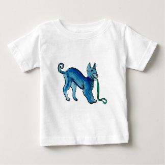 Perro azul céltico playera de bebé