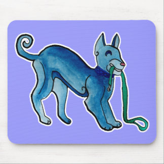 Perro azul céltico tapete de raton