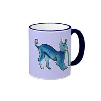 Perro azul céltico taza de café