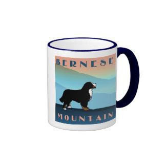 Perro azul de Bernese de la montaña Tazas De Café