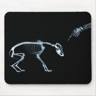 Perro azul de los esqueletos de la radiografía mún tapete de raton