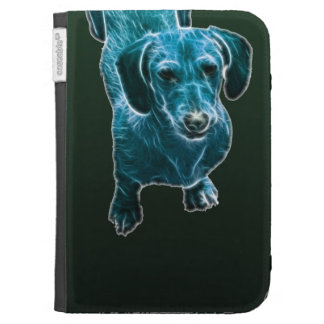 Perro azul del Dachshund de Fractalius