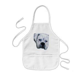 Perro azul delantal