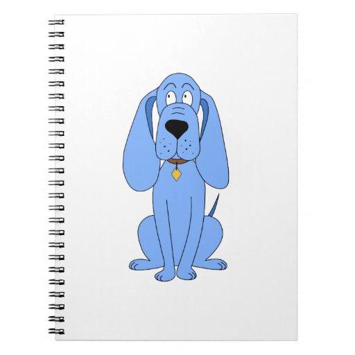 Perro azul. Perro Libro De Apuntes Con Espiral