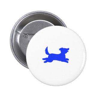 Perro azul pin redondo de 2 pulgadas