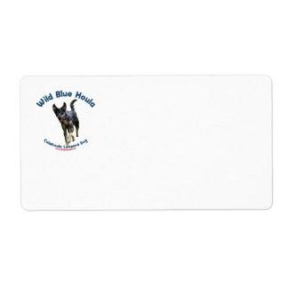 Perro azul salvaje de Catahoula Etiquetas De Envío