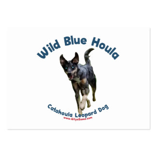 Perro azul salvaje de Catahoula Plantilla De Tarjeta De Visita