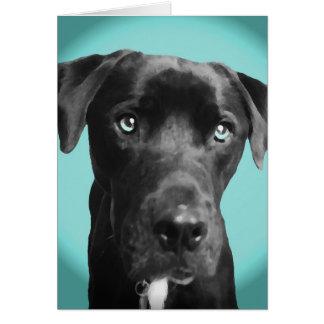 Perro azul tarjeta de felicitación