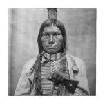 Perro bajo - foto del vintage del nativo americano tejas