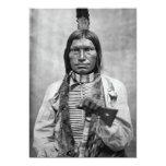Perro bajo - foto del vintage del nativo americano invitación 12,7 x 17,8 cm