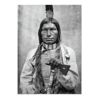 """Perro bajo - foto del vintage del nativo americano invitación 5"""" x 7"""""""