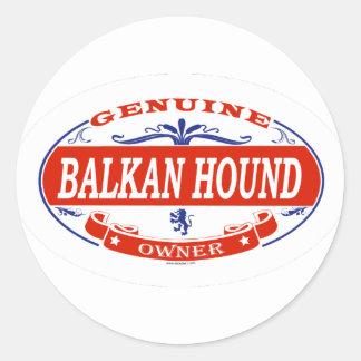 Perro balcánico etiqueta redonda