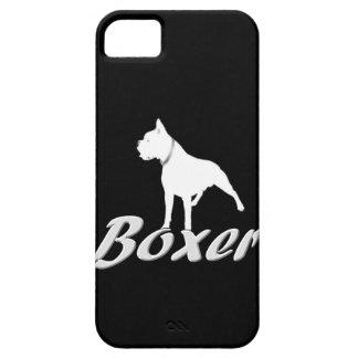 Perro blanco del boxeador iPhone 5 protector