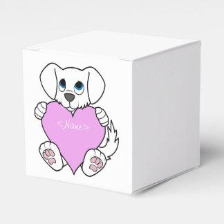 Perro blanco del el día de San Valentín con el Cajas Para Regalos De Boda