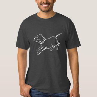 Perro blanco del pitbull del arte del vector - la playeras