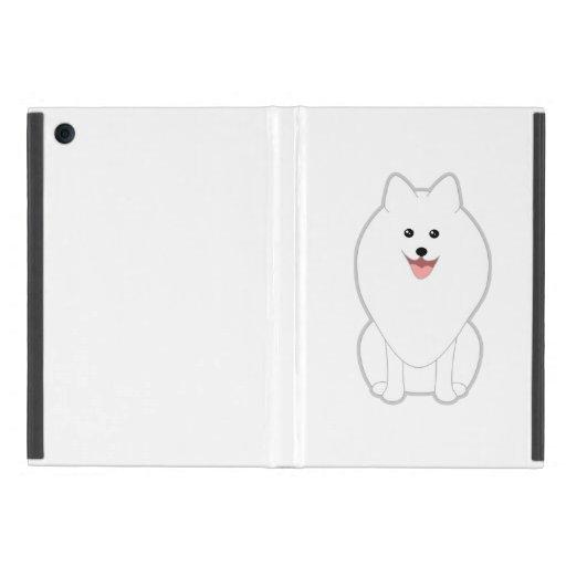 Perro blanco lindo. Perro de Pomerania o Pomerania iPad Mini Protector