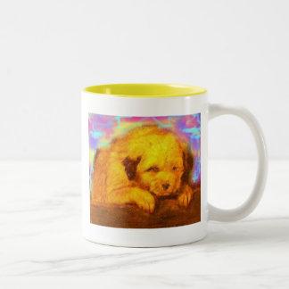 perro blanco tazas