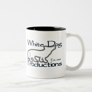 Perro blanco - taza de 2 tonos (negro)