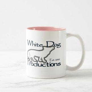 Perro blanco - taza de 2 tonos (rosa)