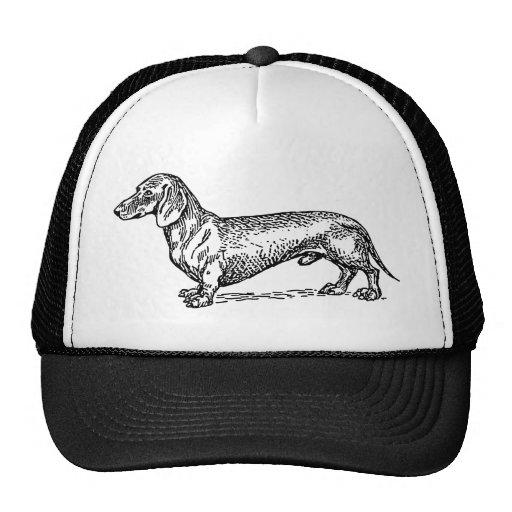 Perro blanco y negro de la salchicha de Frankfurt  Gorras