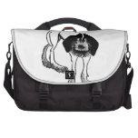 Perro blanco y negro lindo bolsas de portatil