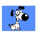 Perro blanco y negro postales