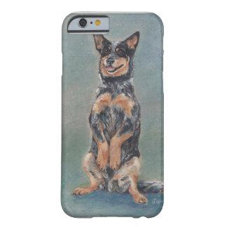 Perro bonito del ganado que se sienta funda para iPhone 6 barely there
