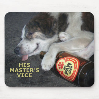 Perro borracho alfombrilla de ratones