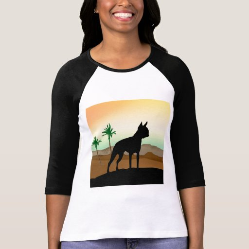 Perro Boston Terrier del desierto Camiseta
