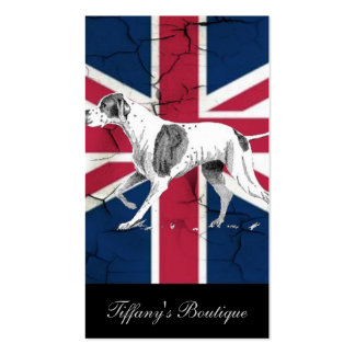 perro británico moderno de la caza del inglés del tarjetas de visita