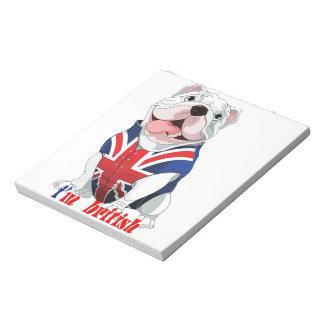 perro británicos bloc de papel