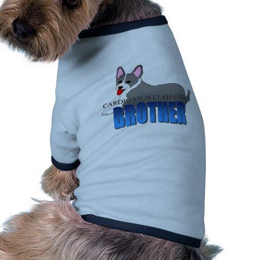 Perro Brother del Corgi Galés de la rebeca Camiseta De Mascota