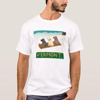 Perro-Camiseta Stephen Huneck del trineo de Playera