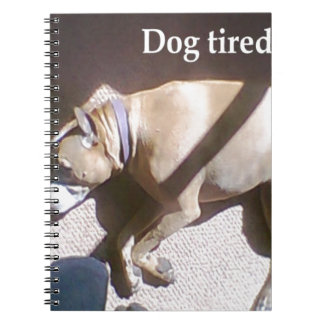 Perro cansado libro de apuntes