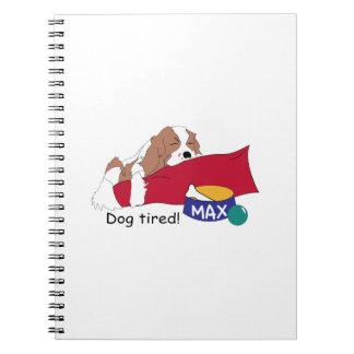 ¡Perro cansado! Libros De Apuntes Con Espiral