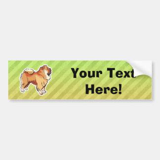 Perro chino de perro chino pegatina de parachoque