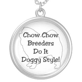 Perro chino de perro chino colgante redondo