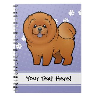 Perro chino de perro chino del dibujo animado notebook