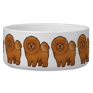 Perro chino de perro chino del dibujo animado tazones para perro