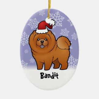 Perro chino de perro chino del navidad (añada su n ornamento de navidad